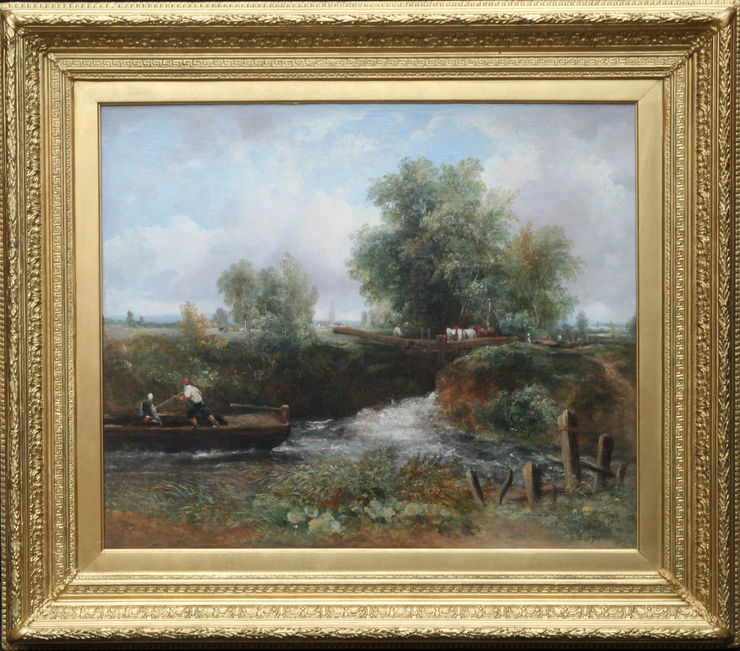Frederick Waters Watts The Stour Constable Country available at Richard Taylor Fine Art