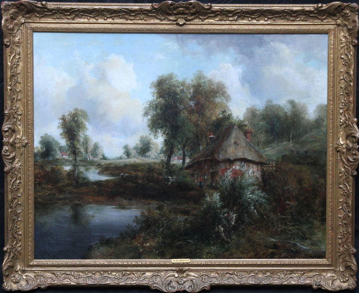 British Victorian Landscape by Frederick Waters Watts at Richard Taylor Fine Art