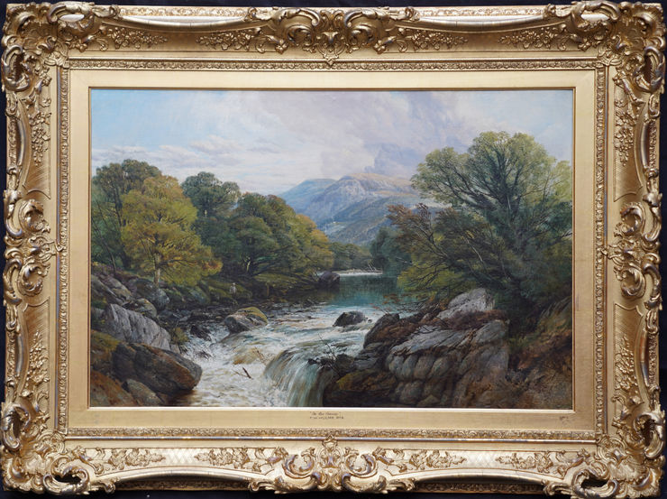 River Landscape Wales by Frederick William Hulme at Richard Taylor Fine Art