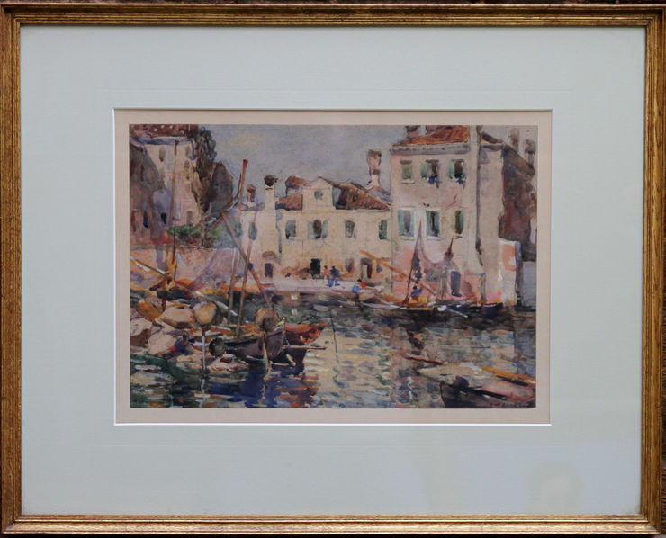 Fishing Boats Venice by Frederick William Jackson at Richard Taylor Fine Art