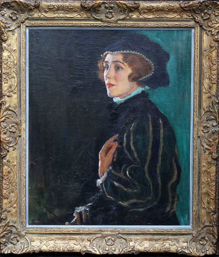 Cecily Byrne as Mary Stewart by George Carr Drinkwater at Richard Taylor Fine Art