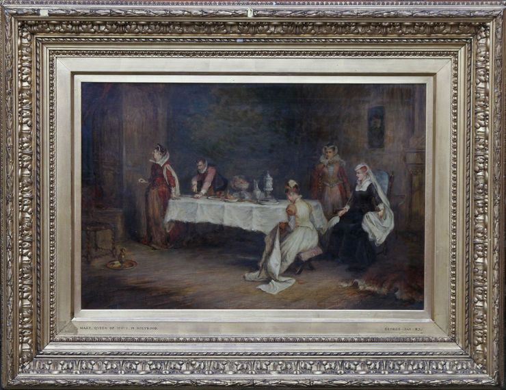 Victorian Interior Mary Queen of Scots in Holyrood by George Hay at Richard Taylor Fine Art