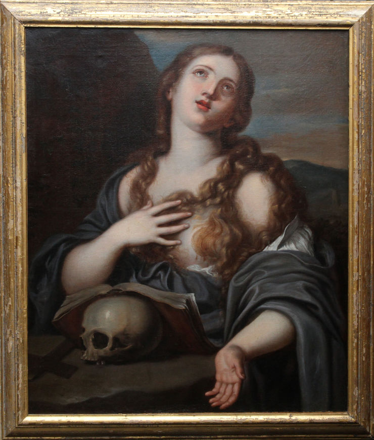 Mary Magdalene with Book and Skull by Guido Reni at  Richard Taylor Fine Art