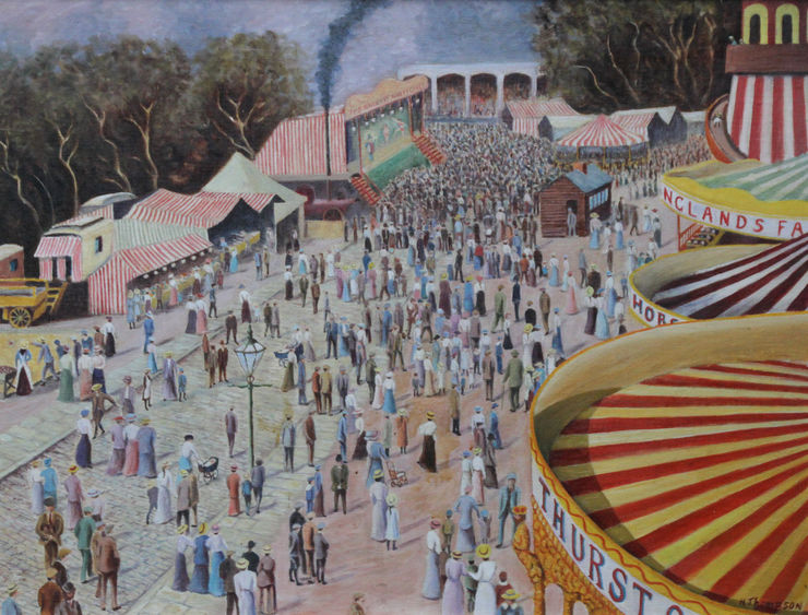 Thurston's Fun Fair Cambridge by H Thompson Richard Taylor Fine Art