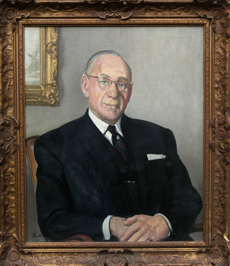 Male Portrait by Harry Rutherford Manchester Academy president at Richard Taylor Fine Art