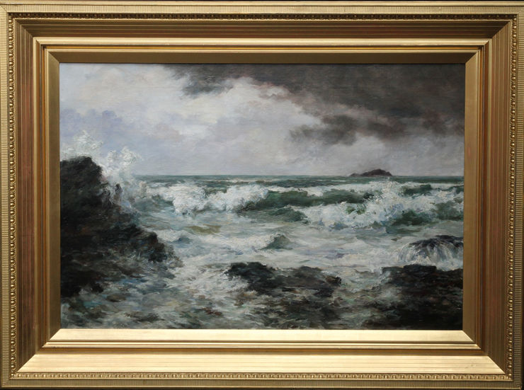 Trevone Bay Cornwall Seascape by Harvey Allport at Richard Taylor Fine Art