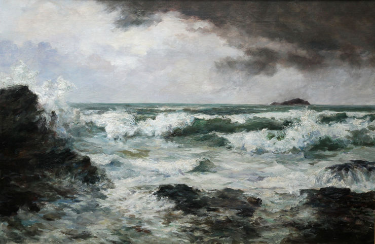 Cornish Victorian Seascape by Harvey Allport Richard Taylor Fine Art