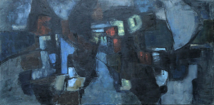 Abstract Expressionist Lock by Night by Helen Hale Richard Taylor Fine Art