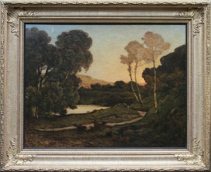 French Barbizon Landscape by Henri Joseph Harpignies at Richard Taylor Fine Art