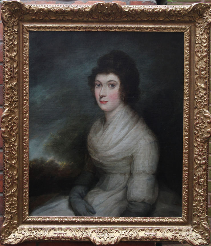 Old Master Portrait of a Lady by Henri Pierre Danloux at Richard Taylor Fine Art