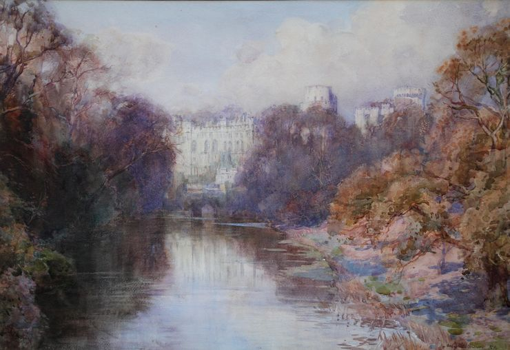 Henry Charles Brewer - Warwick Castle - Richard Taylor Fine Art