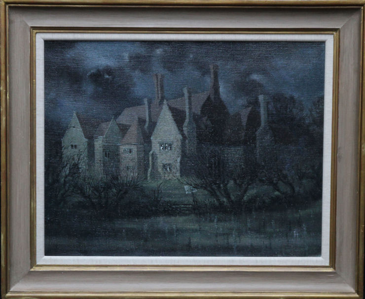 Laurence Henry Irving The Dark House. British 1930's architectural landscape oil painting Visit Richard Taylor Fine