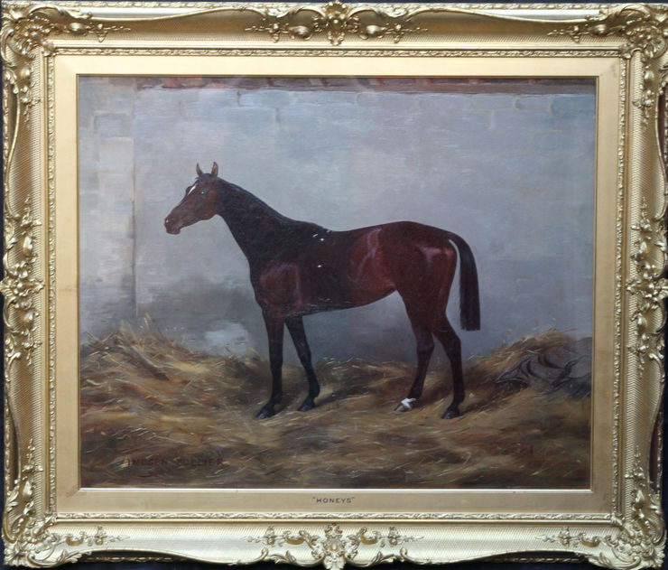Honeys Race Horse by Imogen Mary Collier at Richard Taylor Fine Art