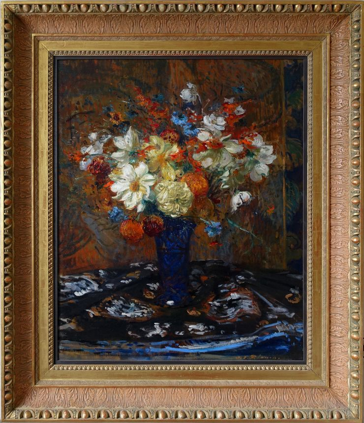 Impressionist Floral Bouquet by Jacques Emile Blanche at Richard Taylor Fine Art