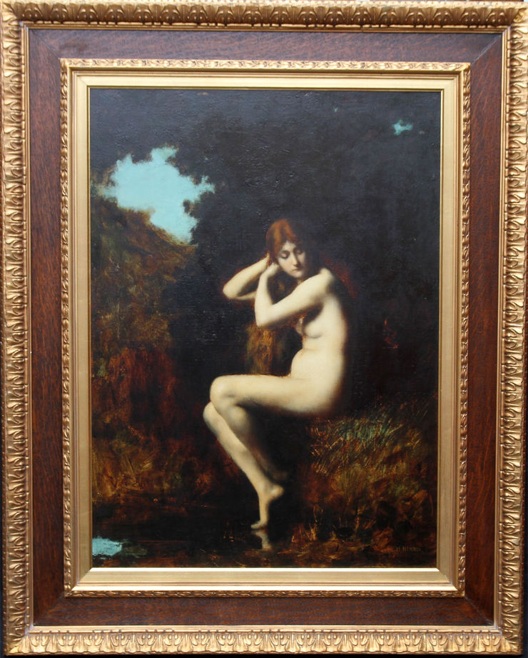 French Impressionist Nude by Jean Jacques Henner at Richard Taylor Fine Art