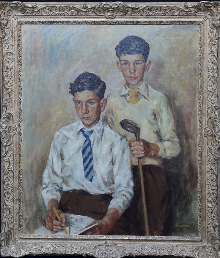 Scottish Portrait of a Golfer by James Bowman at Richard Taylor Fine Art