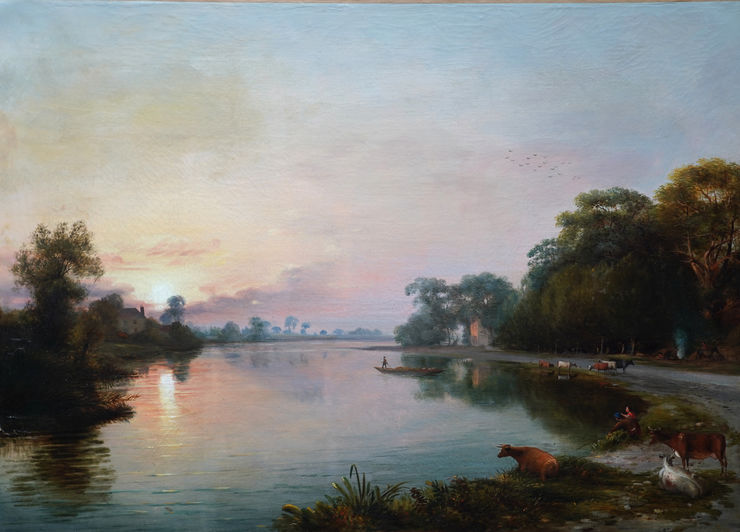British Victorian River Landscape by James Bridges Richard Taylor Fine Art