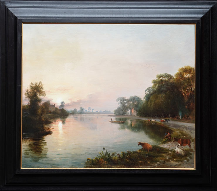 British River Landscape by James Bridges at Richard Taylor Fine Art