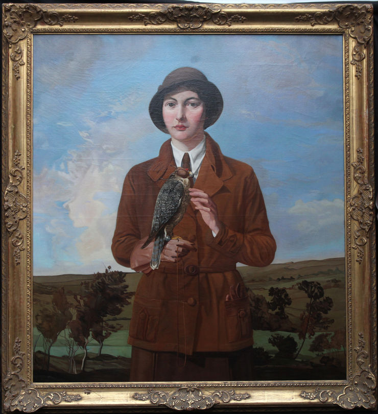 james granville exley - the young falconer - richard  taylor fine art