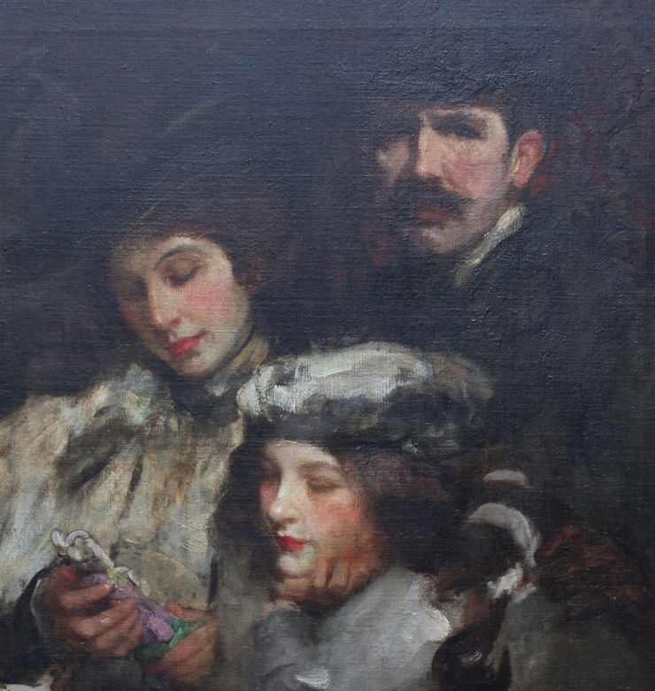 Shannon Family Portrait by James Jebusa Shannon Richard Taylor Fine Art