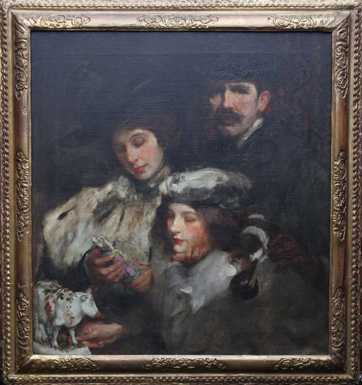 Edwardian Family Portrait by James Jebusa Shannon at Richard Taylor Fine Art