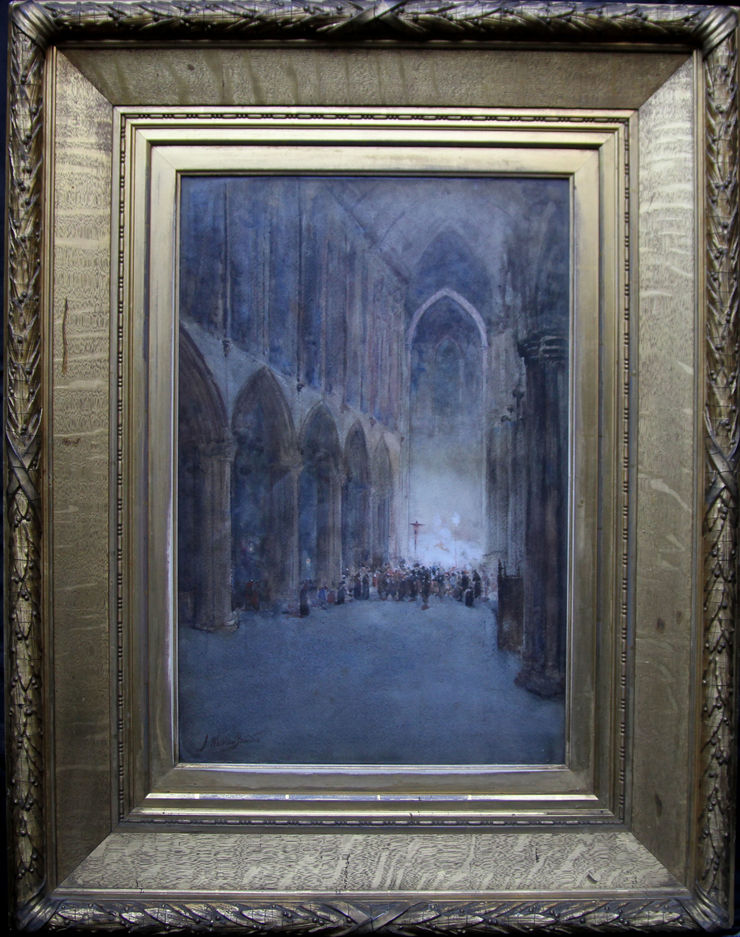 Glasgow Cathedral by Glasgow Boy James Whitelaw Hamilton at Richard Taylor Fine Art