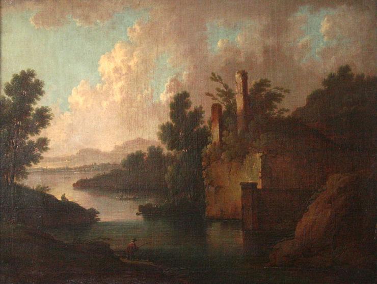 Jan Wyck Old Master Capriccio Arcadian Landscape
