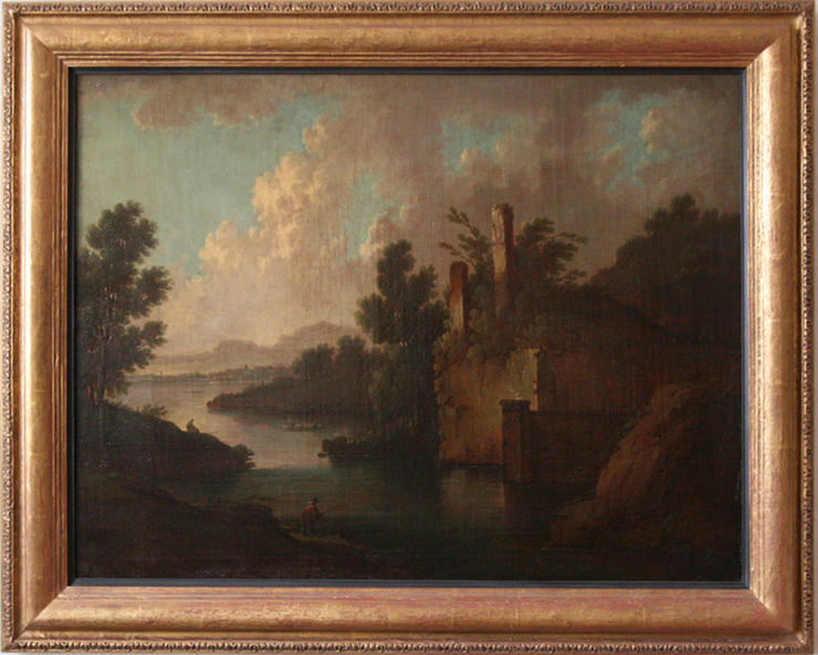 Capriccio Arcadian Landscape by Dutch Old Master Jan Wyck at Richard Taylor Fine Art