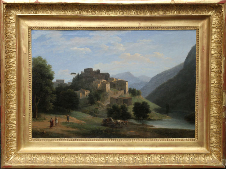 Italian Neo Classical Landscape by Jean Victor Bertin at Richard Taylor Fine Art