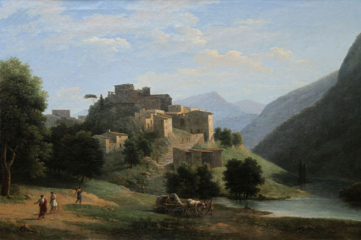 Neo Classical Landscape by Jean Victor Bertin Richard Taylor Fine Art