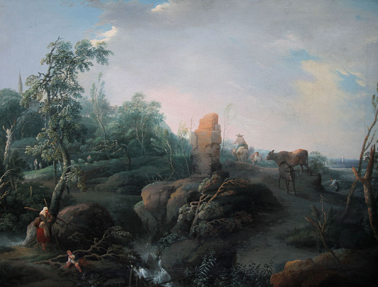 jean baptist claudot - old master french landscape - richard taylor fine art
