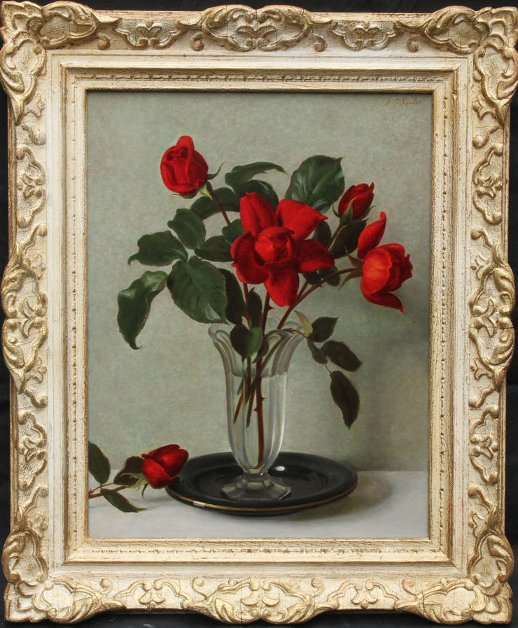 Scottish Floral Roses by John Bulloch Souter at Richard Taylor Fine Art