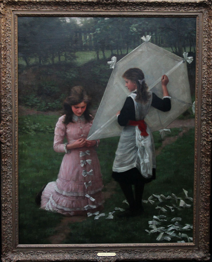 The Kite Flyers Portrait by  John Morgan at Richard Taylor Fine Art