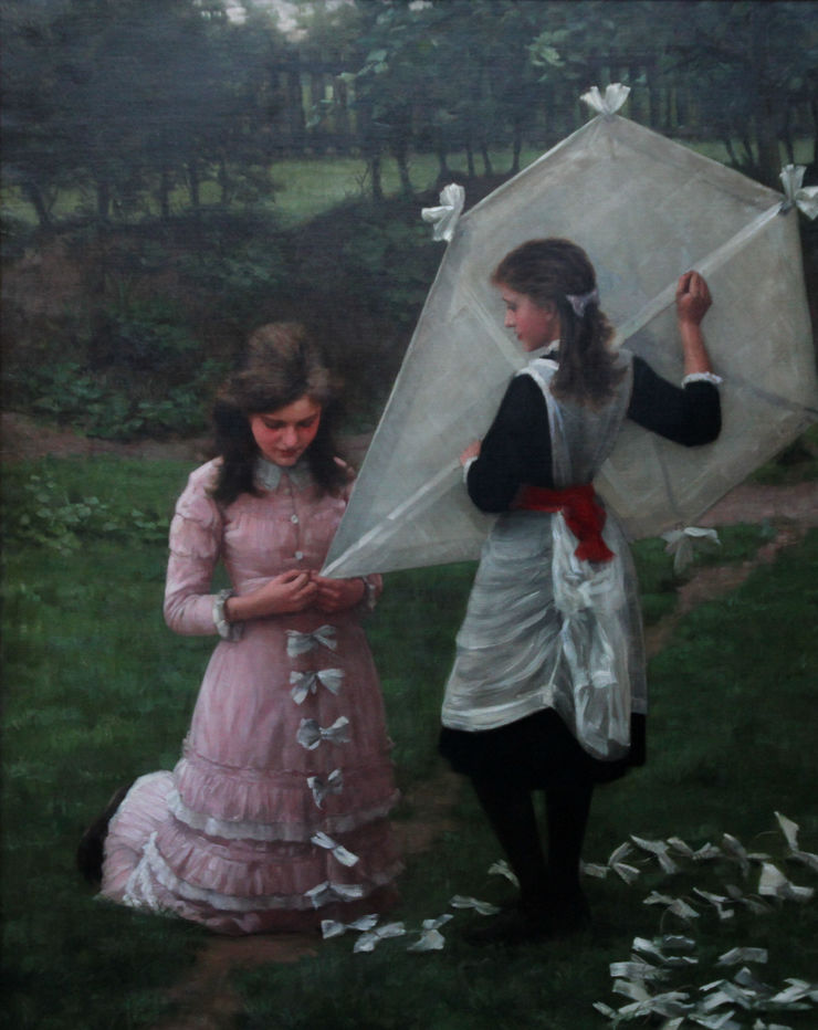 Victorian Girls Portrait by John Morgan Richard Taylor Fine Art