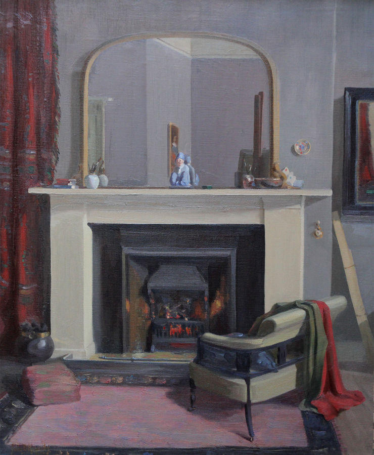 Scottish Interior oil painting by John Davies kennedy Richard Taylor Fine Art