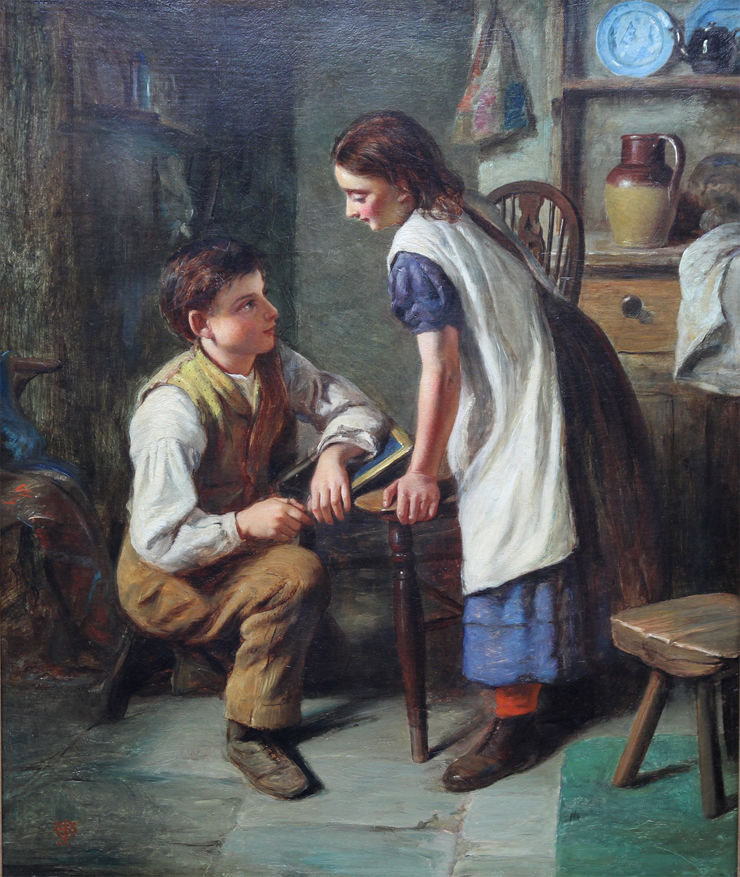 The Marriage Proposal by Joseph Clark Richard Taylor Fine Art