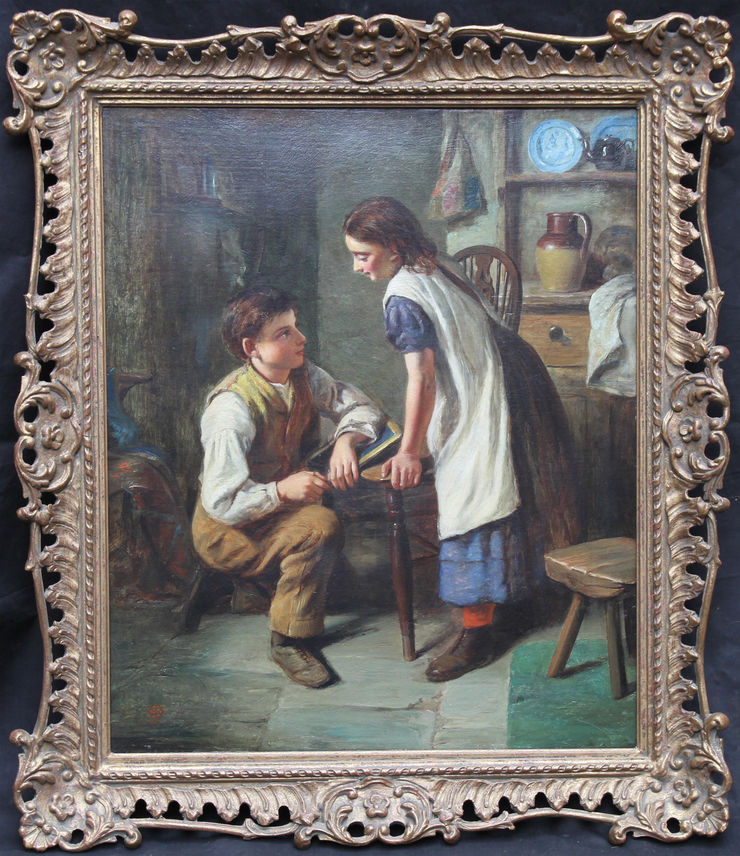 Victorian Genre The Marriage Proposal by Joseph Clark at Richard Taylor Fine Art