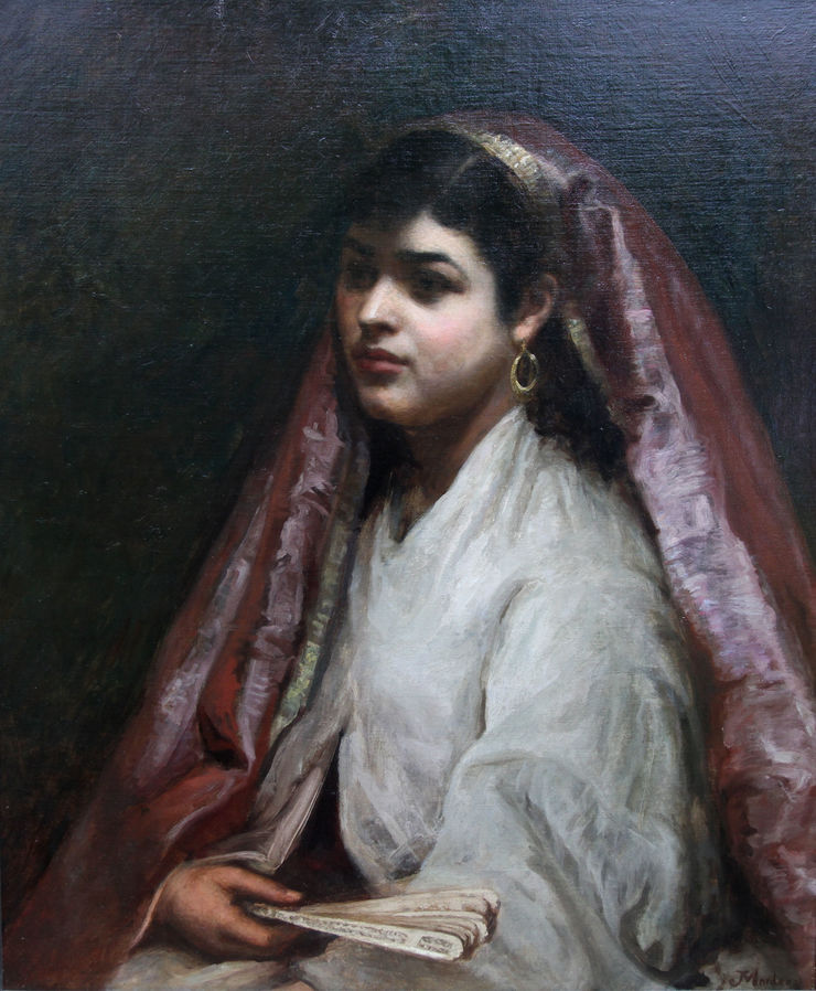 Arabian Female Portrait by Joseph Mordecai  Richard Taylor Fine Art