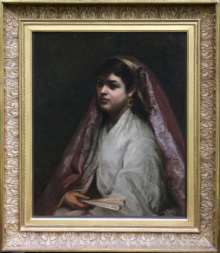 Arabian Beauty British Victorian Portrait by Joseph Mordecai at Richard Taylor Fine Art