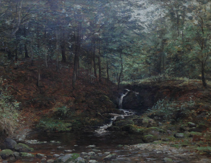 Scottish Impressionist River Landscape - Stirling by Joseph Morris Henderson at Richard Taylor Fine Art
