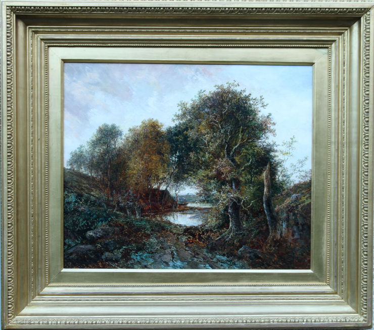 Victorian Landscape oil painting by Joseph Thors at Richard Taylor Fine Art
