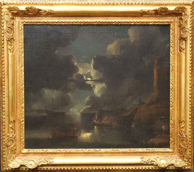 Dutch Marine Nocturne Old Master by Lieve Pietersz Verschuier at Richard Taylor Fine Art