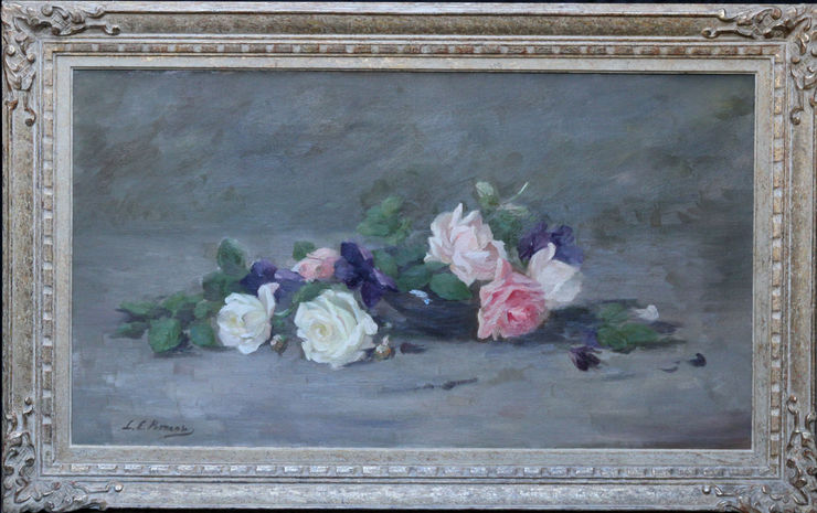 Roses and Violets Scottish Floral by Louise Ellen Perman at Richard Taylor Fine Art