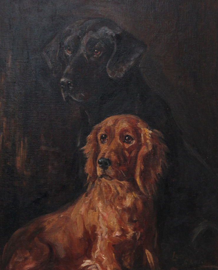 Portrait of Two Retrievers by Lucy Dawson Richard Taylor Fine Art