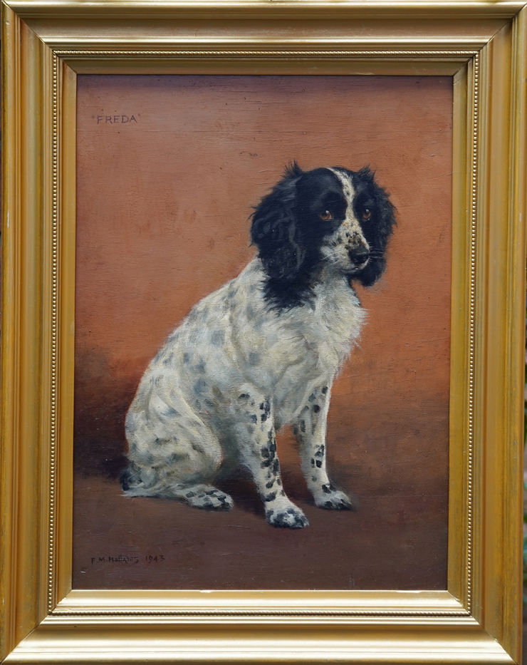 British 40's Springer Spaniel Portrait by Mabel Hollams at Richard Taylor Fine Art