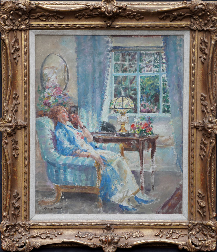 Post Impressionist Interior Margaret Fisher Prout at Richard Taylor Fine Art
