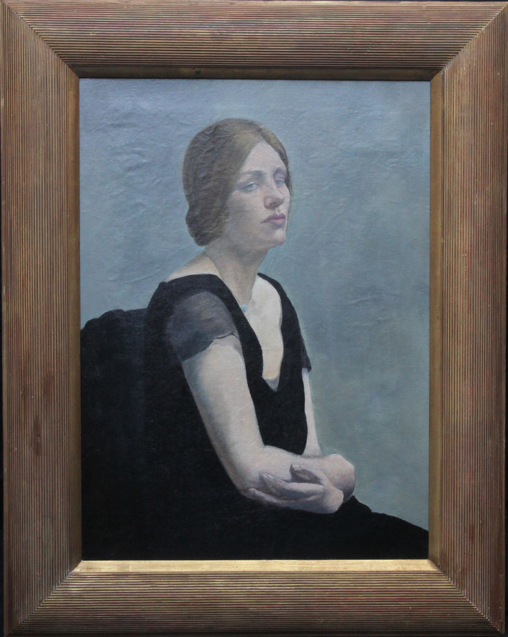 Woman in Evening Dress Portrait by Margaret Maitland Howard at Richard Taylor Fine Art