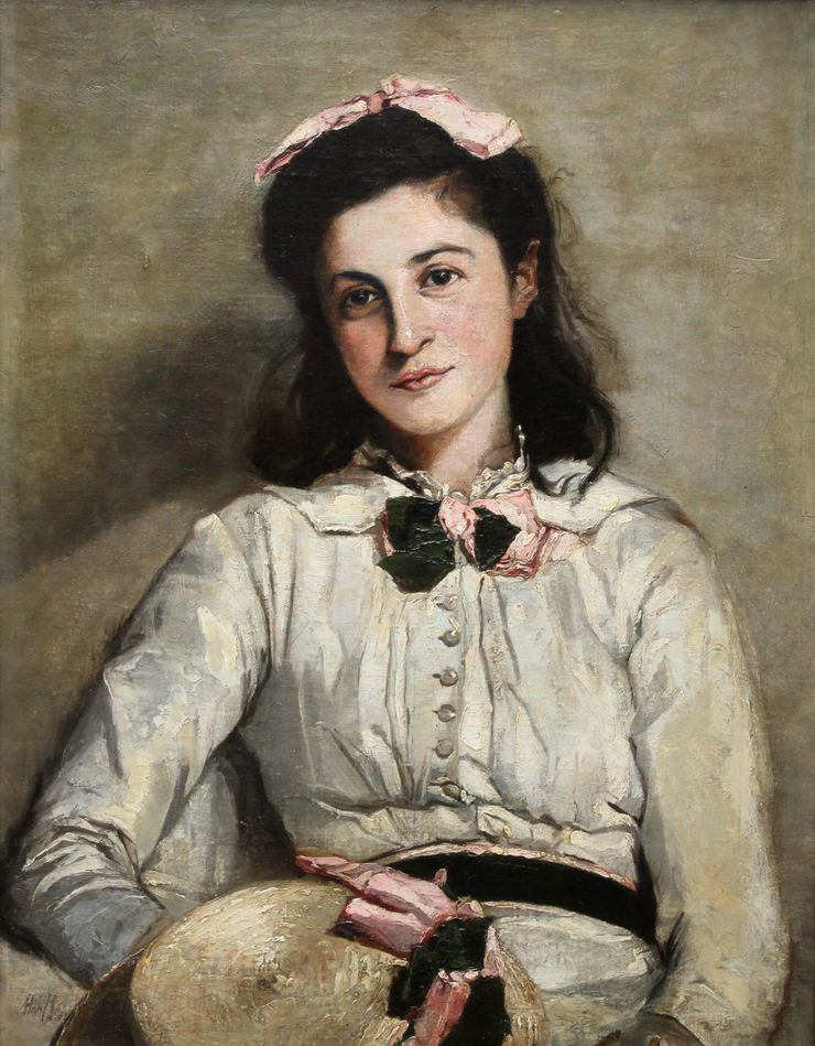 Edwardian Female Portrait by Mary Rischgitz Richard Taylor Fine Art