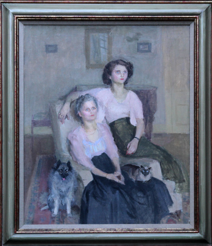 Mrs Ronald Simpson and Daughter Jenny by Mary Potter at Richard Taylor Fine Art
