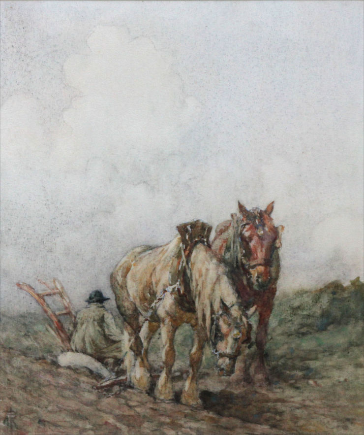 nathaniel hughes baird -  top of the hill -  richard taylor fine art